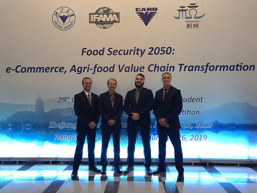2019 International Food and Agribusiness Management Association's student case team champs