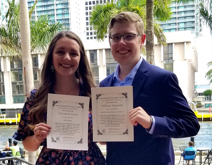 Pauli and Reynolds receive ITG scholarships