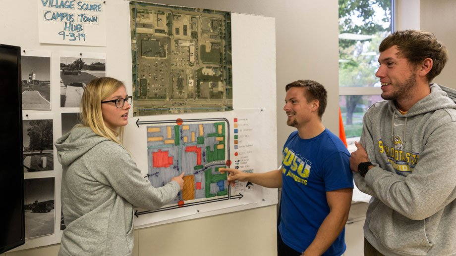 three landscape architecture students discuss their designs