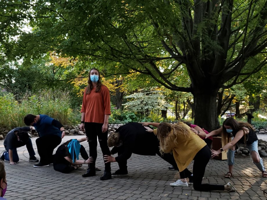 Group of dancers in McCrory Gardens