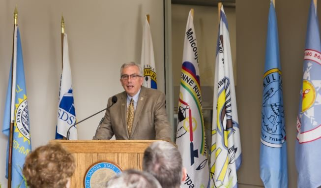 President Dunn during American Indian Student Center Dedication