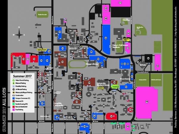 Summer 0017 Parking Map