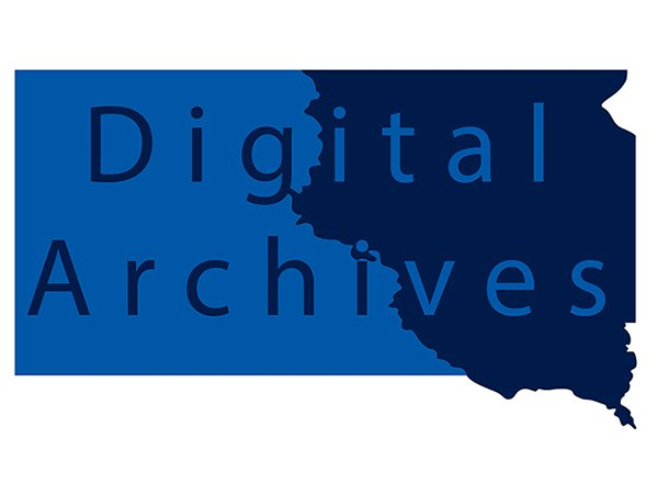 Digital Archives image of the state of South Dakota