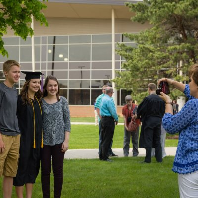 Family photographs graduate