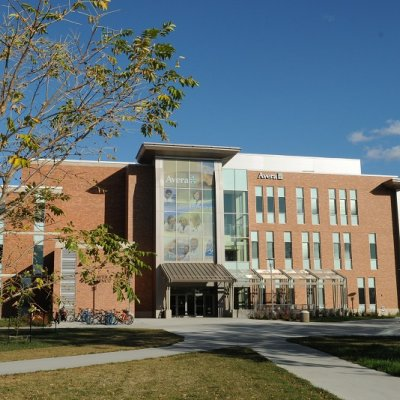 Front view of Avera Health & Science Center on SDSU Campus Brookings