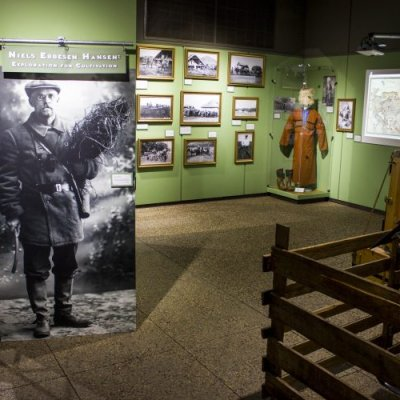 Gallery shot of the N.E. Hansen portion of the exhibit