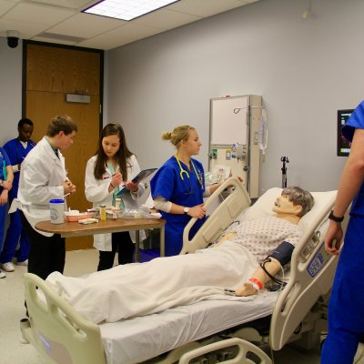 Pharmacy and nursing students at interprofessional education activity