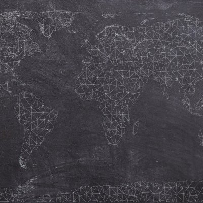Black and grey map of the world