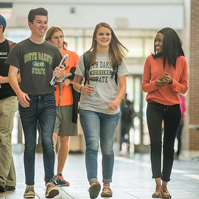 Students walking through the Student Union
