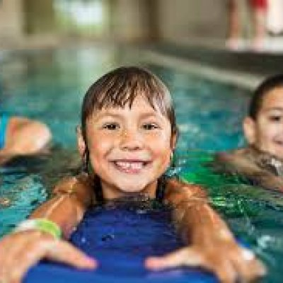 Group Swim Lessons Stock Image