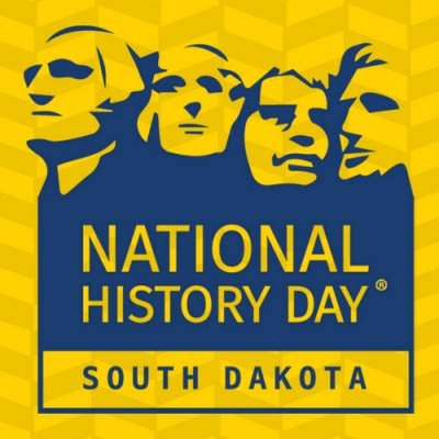 """National History Day Resources. NHD in SD Logo"""