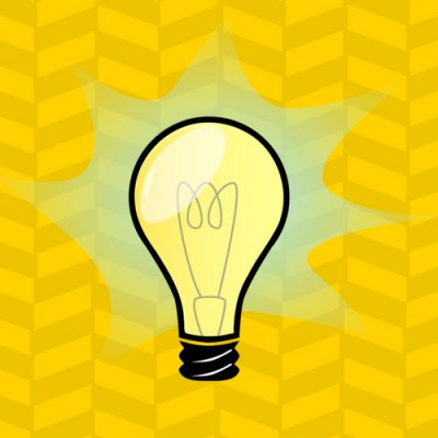 """Suggest a Resource Link. Image of lightbulb."""