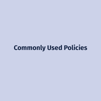 Commonly Used Policies