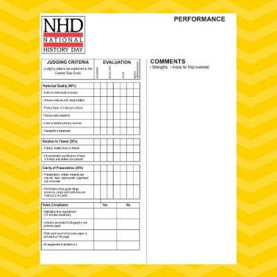 Performance Category Judge's Evaluation Sheet