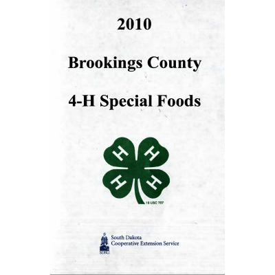 4-H & Extension Cookbook cover