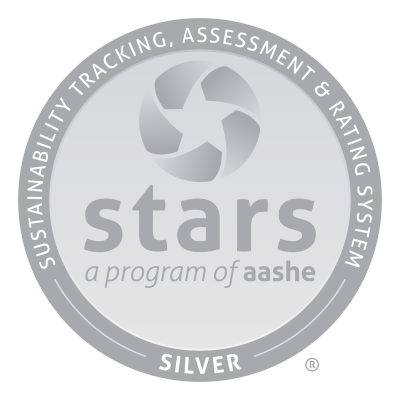 Sustainability Tracking, Assessment & Rating System Silver rating logo