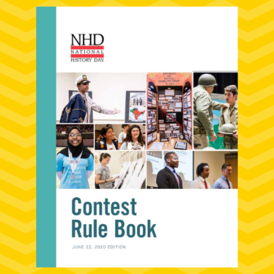 Image of the cover of the NHD Contest Rule Book
