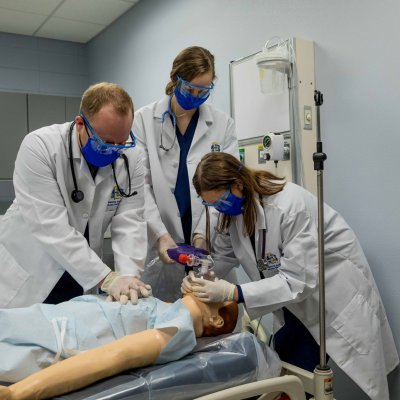 Respiratory Care students with patient