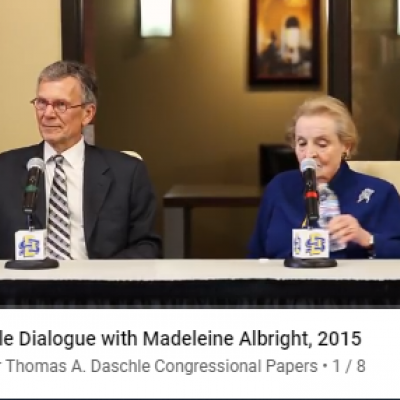 Thomas A. Daschle with Madeleine Albright, 2015