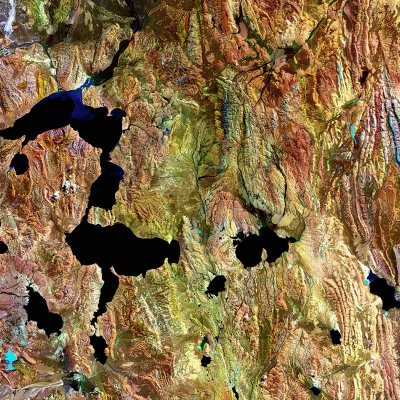 Roof of the World form Landsat imagery courtesy of NASA Goddard Space Flight Center and U.S. Geological Survey