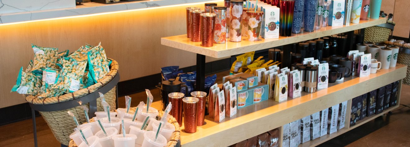 Starbucks merchandise in southeast neighborhood