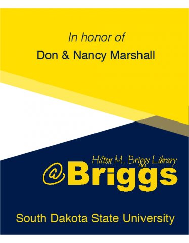 In honor of Don and Nancy Marshall bookplate, Briggs Library, SDSU