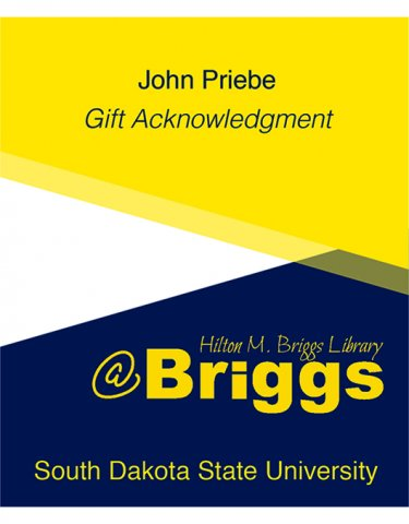 John Priebe Gift Acknowledgment