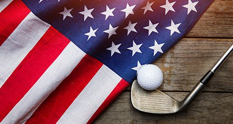 flag and golf