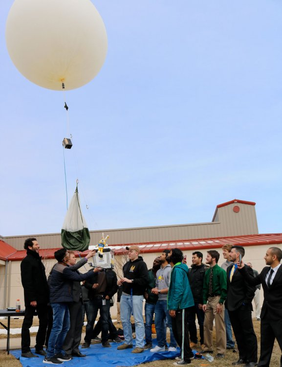 High-altitude balloon launch at Engineering Expo