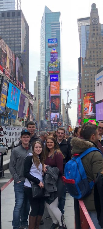 Students during the trip in NY.