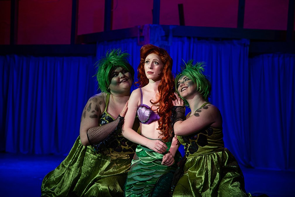 This is a scene from the recent production of The Little Mermaid