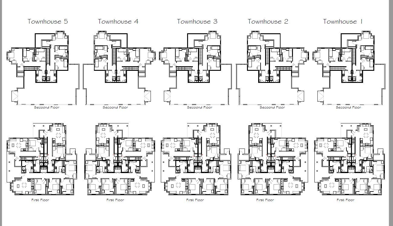 Townhouse layout