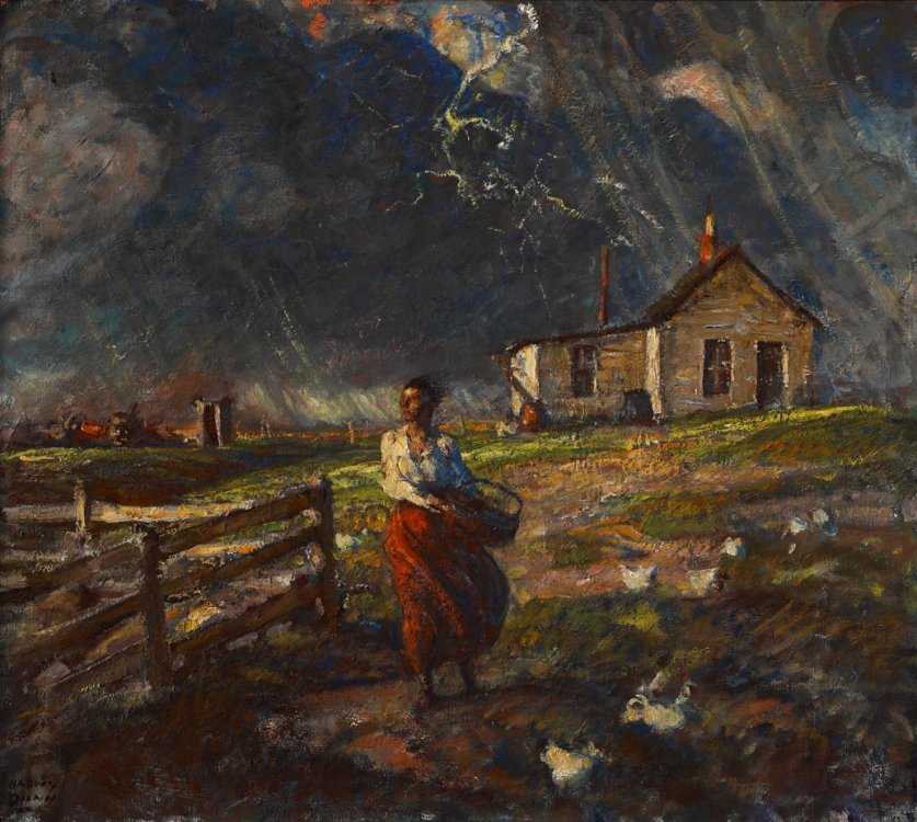 Harvey Dunn, Just a Few Drops of Rain, n.d.