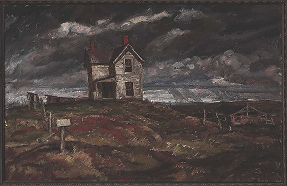 Harvey Dunn, The Deserted House, n.d.