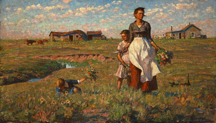 Harvey Dunn, The Prairie is my Garden, 1950