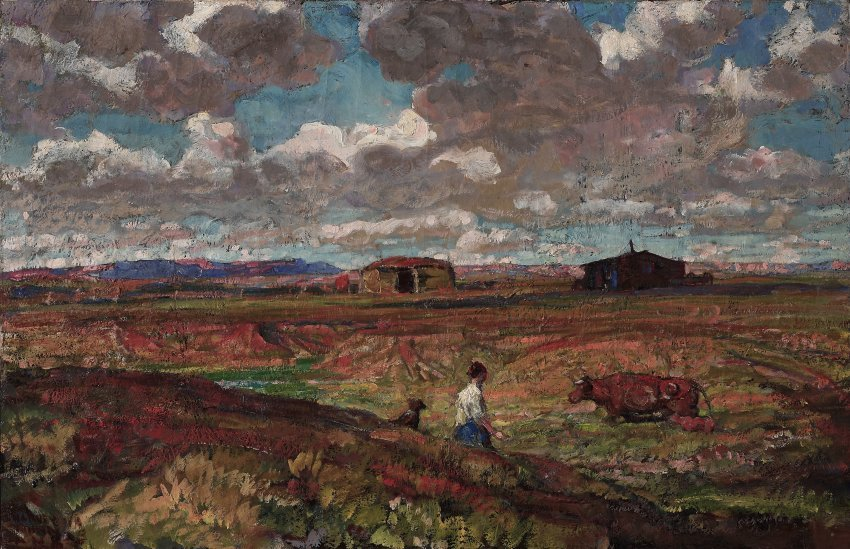 Harvey Dunn, Prairie Farmer's Wife, 1938