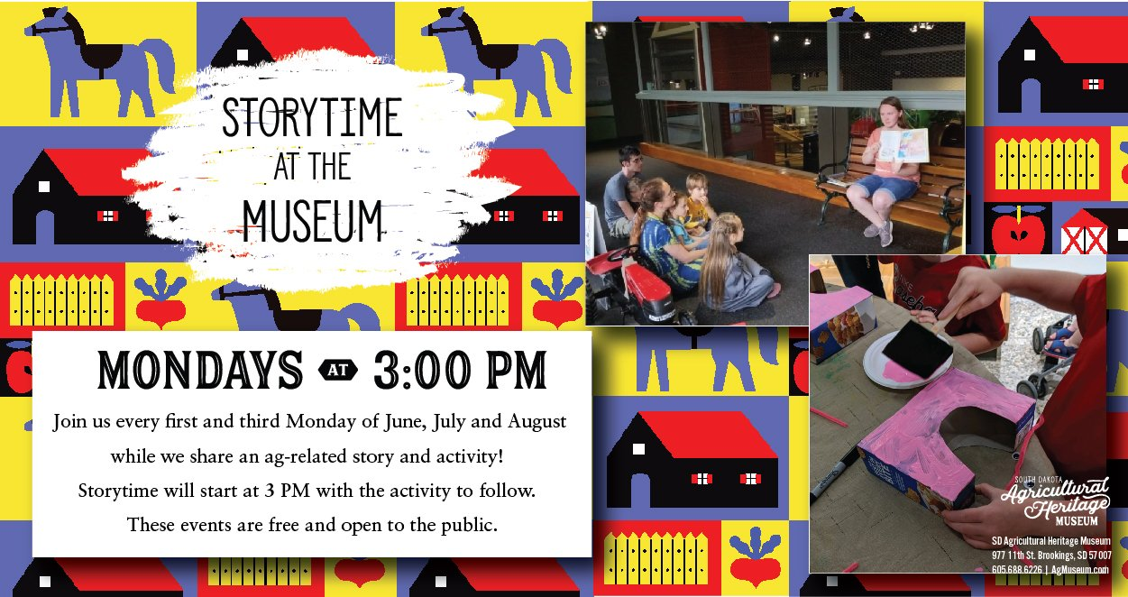 Story time at the museum event