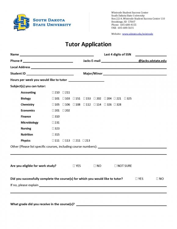 Tutoring Application