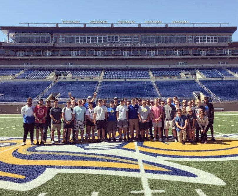 Sport & Recreation Management students at Dana J. Dykhouse Stadium