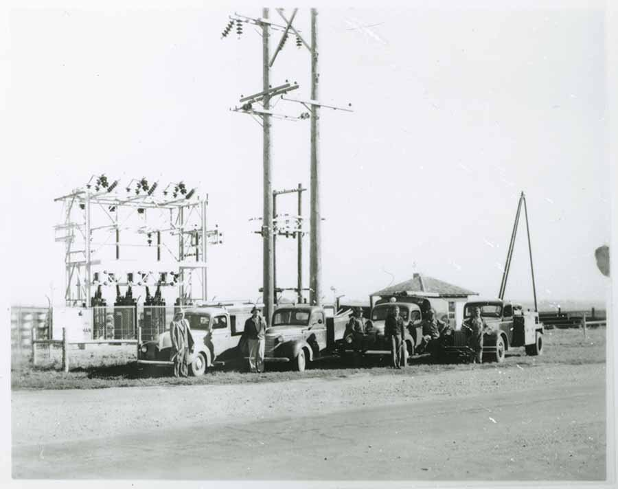 Sioux Valley Energy Cooperative linemen with trucks