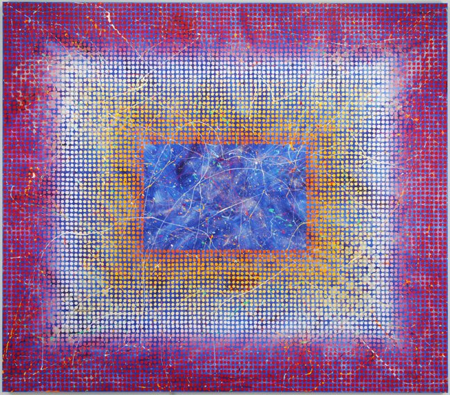 Carol Brown Goldberg. Spirit to the Hotel, 2007. Acrylic on canvas with polymer particles. © Carol Brown Goldberg/Gift of International Arts & Artists