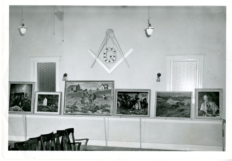 1950 Harvey Dunn Exhibit in De Smet, South Dakota