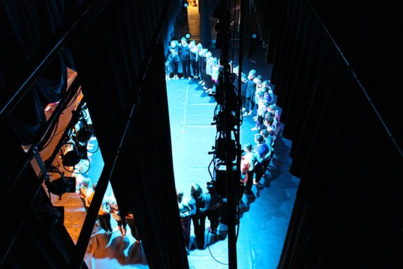 A view of the stage from above.