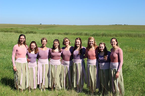 Dance performance on the prairie.