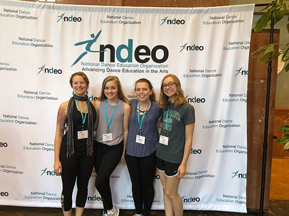 A group of dancers at the NDEO Conference.