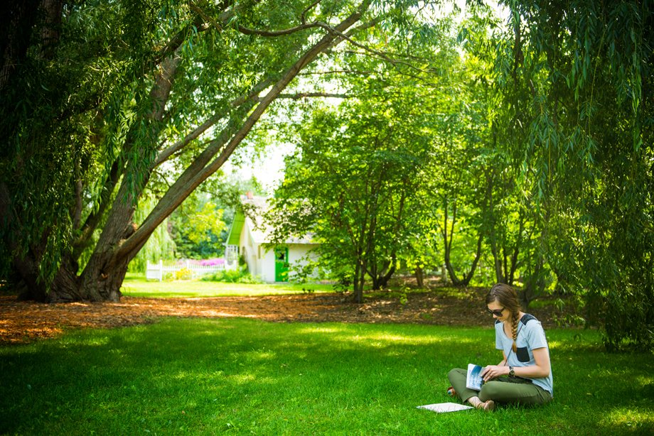 Studying in McCrory Gardens