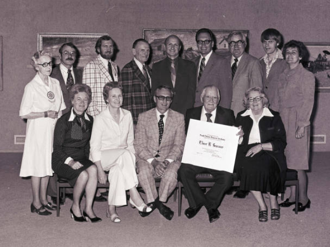 Elmer Sexauer recognition at the South Dakota Memorial Art Center at South Dakota State University, 1977
