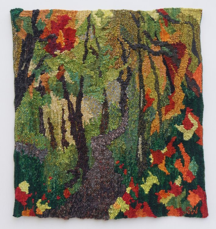 Jean Selvy Wyss, Travel Series: Getting Lost, 2018, tapestry
