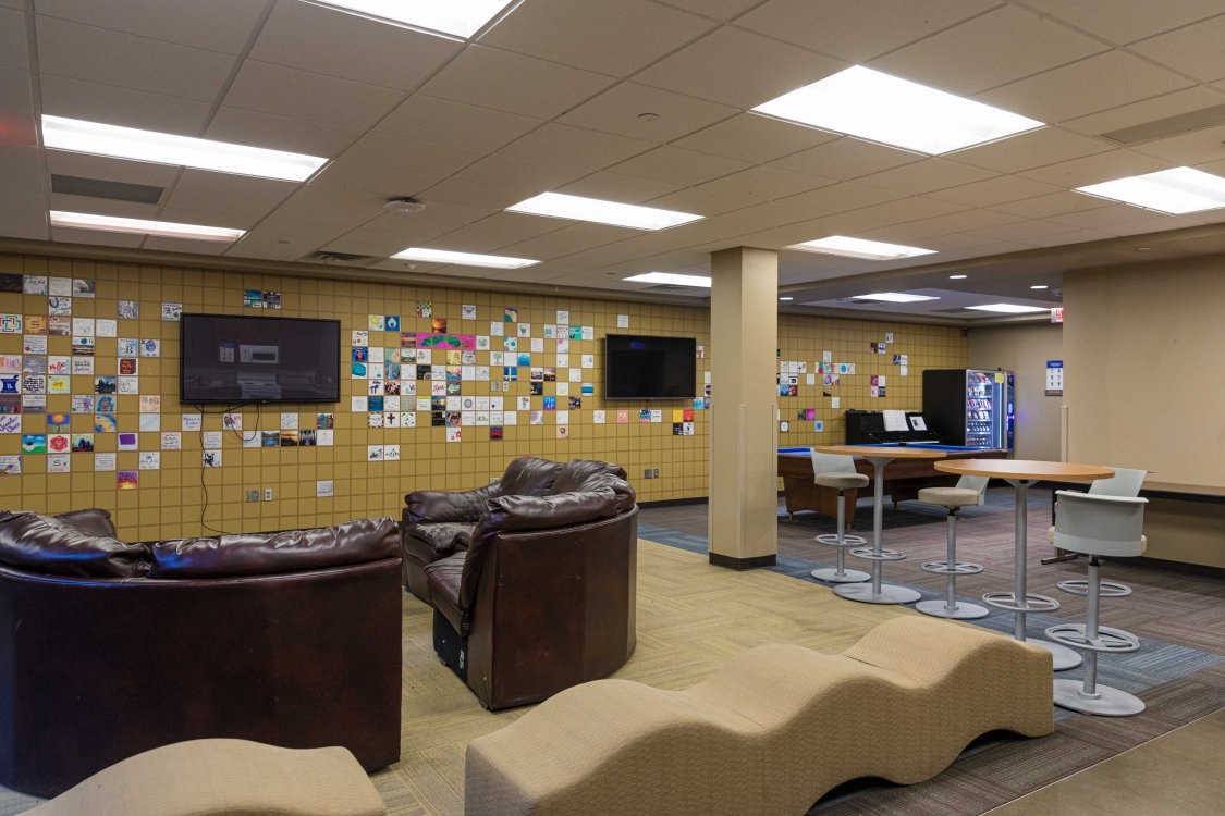 Honors Hall recreation room