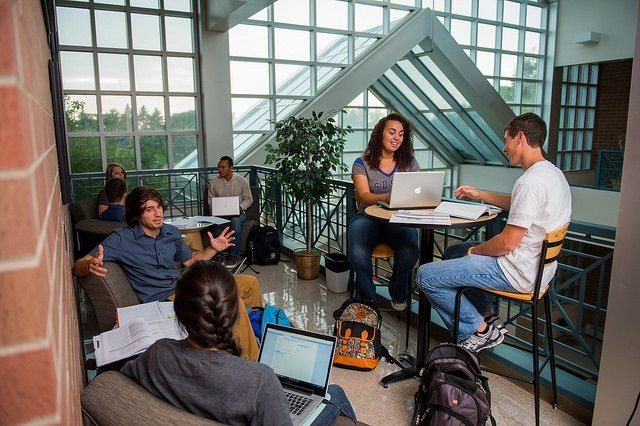 Academics main page students in group
